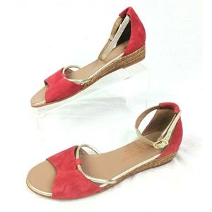 Eric Michael Sandals Womens EUR 39 US 8.5 9 Red